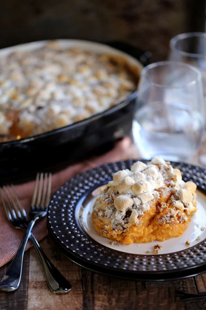 Make Ahead Sweet Potato Casserole | Melanie Makes