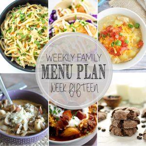 Weekly Family Meal Plan – Week 15