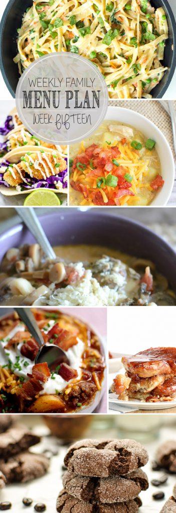 Weekly Family Meal Plan - Week 15 | Melanie Makes