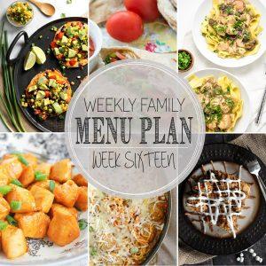 Weekly Family Meal Plan – Week 16