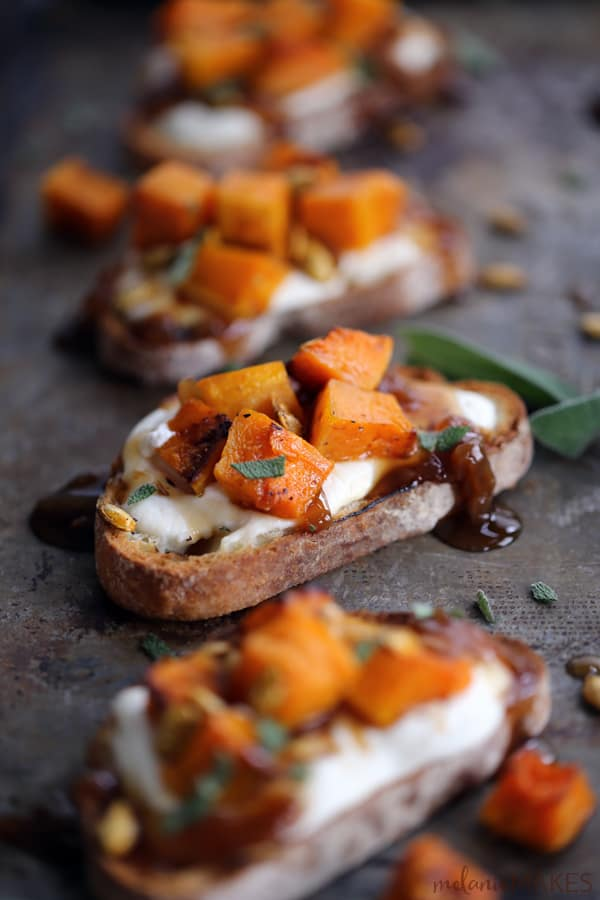 These Roasted Butternut Squash Bruschetta are not only easy on the ...