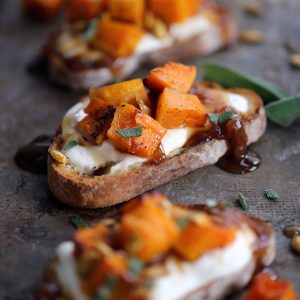 Roasted Butternut Squash Bruschetta