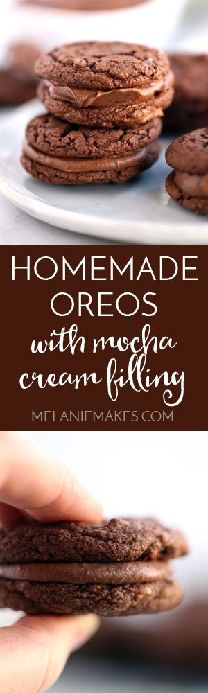 No one will ever guess that just nine ingredients is all it takes to produce your very own batch of Homemade Oreos with Mocha Cream Filling. These chocolatey cookies come together in absolutely no time and their decadent mocha cream filling is just as easy.