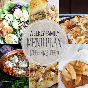 Weekly Family Meal Plan – Week 19