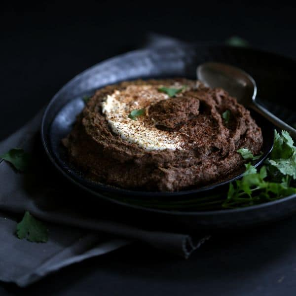 Sweet and Spicy Black Bean Hummus | Melanie Makes