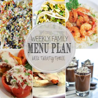Weekly Family Meal Plan - Week 23 | Melanie Makes