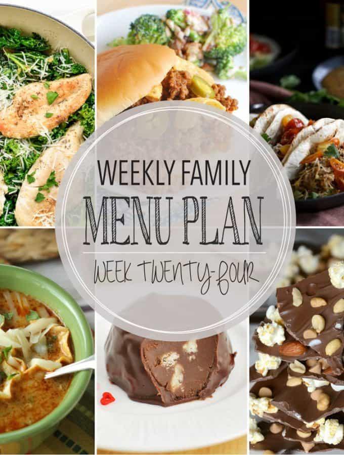 Weekly Family Meal Plan – Week 24