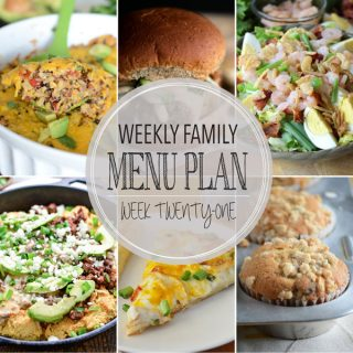 Weekly Family Meal Plan - Week 21 | Melanie Makes