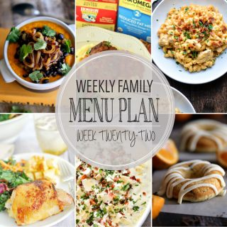 Weekly Family Meal Plan - Week 22 | Melanie Makes