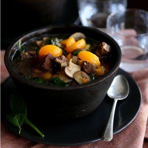 Orange Beef Teriyaki Soup