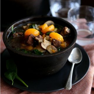 Orange Beef Teriyaki Soup | Melanie Makes