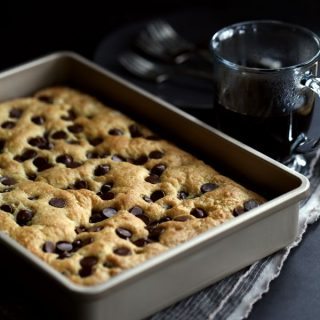 Chocolate Chip Sour Cream Coffee Cake | Melanie Makes
