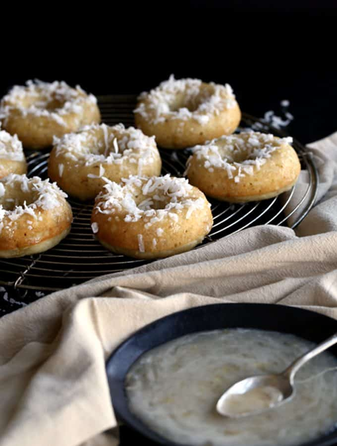 Coconut Banana Bread Donuts