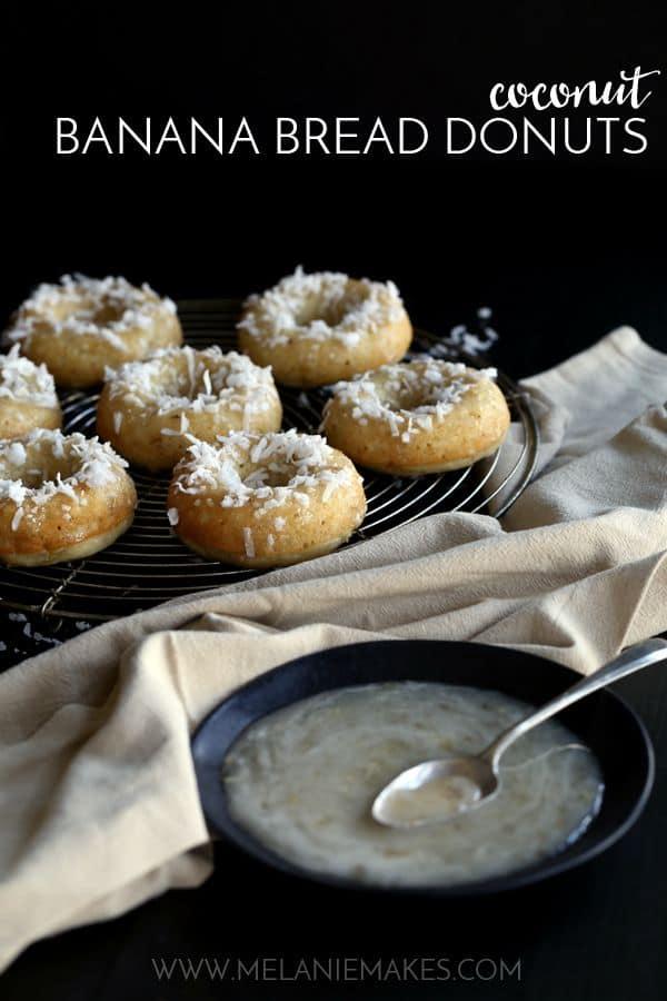 Coconut Banana Bread Donuts | Melanie Makes
