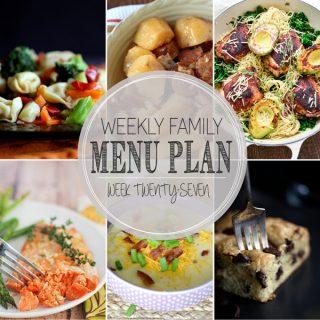 Weekly Family Meal Plan - Week 27 | Melanie Makes