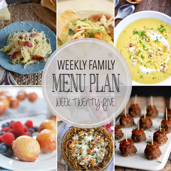 Weekly Family Meal Plan – Week 25