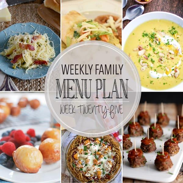Weekly Family Meal Plan – Week 25