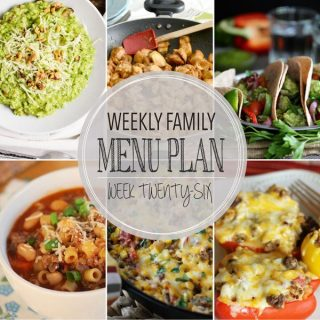 Weekly Family Meal Plan - Week 26   Melanie Makes