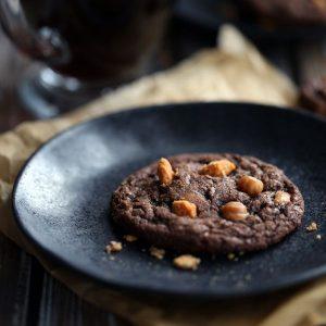 Mocha Caramel Butterfinger Cookies
