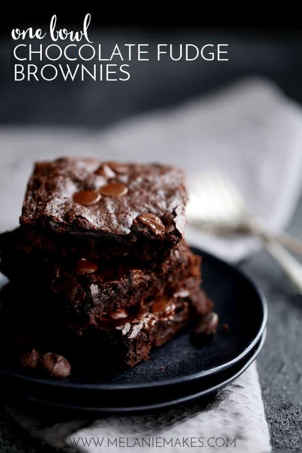 One Bowl Chocolate Fudge Brownies | Melanie Makes