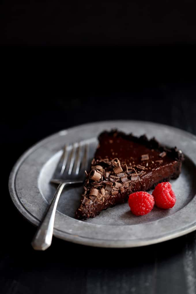 Raspberry Chocolate Tart | Melanie Makes