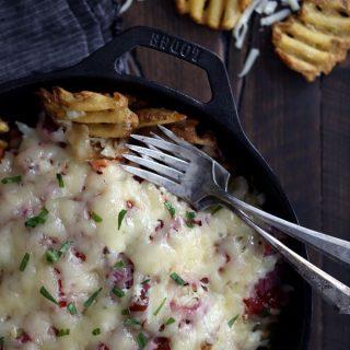 Reuben Waffle Fries | Melanie Makes