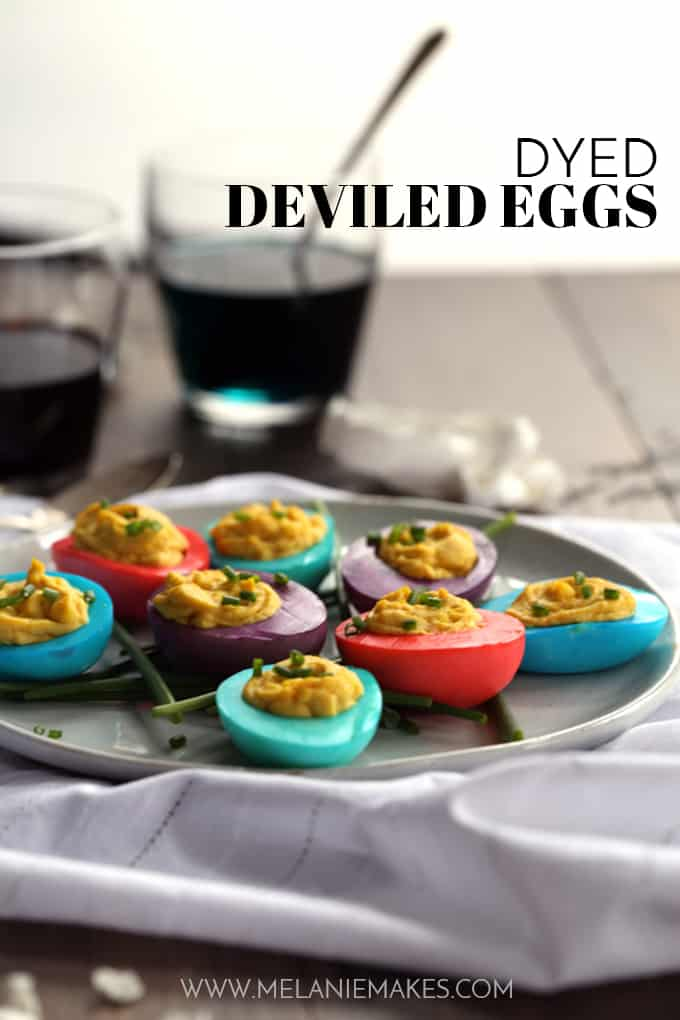 Dyed Deviled Eggs | Melanie Makes