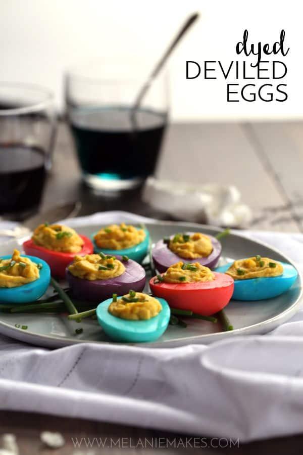 Dyed Deviled Eggs | Melanie Makes