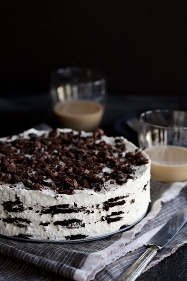 Irish Cream Oreo Icebox Cake | Melanie Makes
