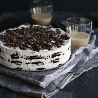 Irish Cream Oreo Icebox Cake | Melanie Makes