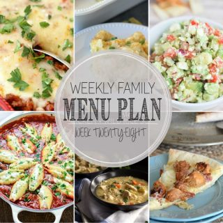 Weekly Family Meal Plan - Week 28 | Melanie Makes