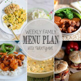 Weekly Family Meal Plan - Week 29