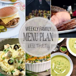 Weekly Family Meal Plan - Week 30