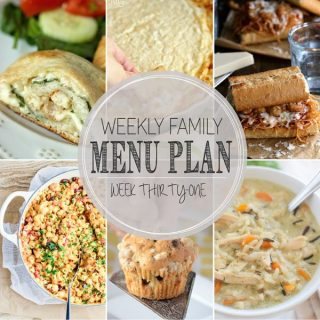 Weekly Family Meal Plan - Week 31 | Melanie Makes