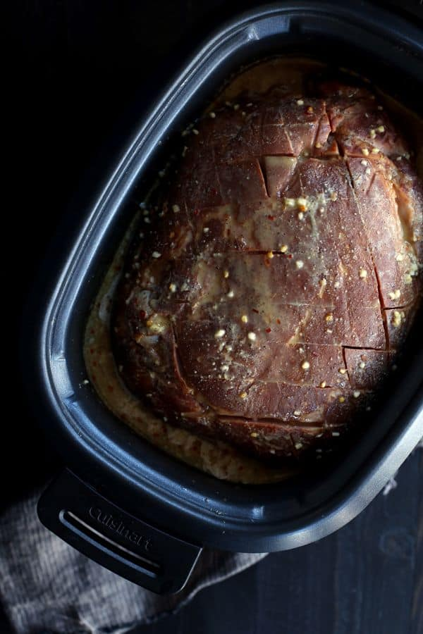 A five ingredient holiday ham that's truly hands off? With just 15 minutes of prep work, my Slow Cooker Honey Mustard Ham is ready to allow you to spend time with friends and family instead of tethered to your kitchen.
