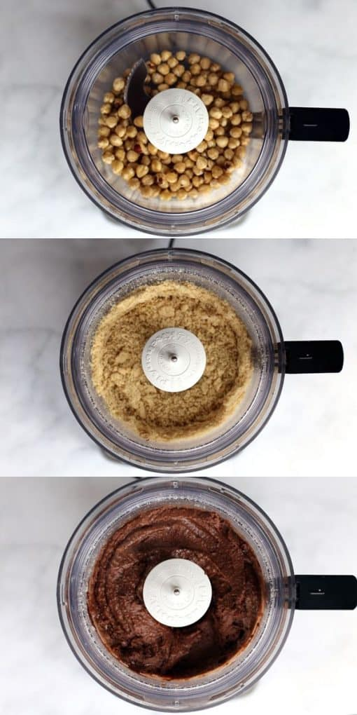 This three ingredient Dark Chocolate Hazelnut Spread will make your store bought jars a thing of the past. Absolutely delicious on toast, fruit or straight out of the jar with a spoon, this spread can do no wrong!