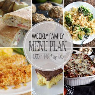 Weekly Family Menu Plan - Week 32 | Melanie Makes