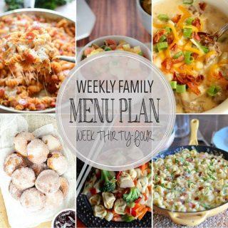 Weekly Family Meal Plan - Week 34 | Melanie Makes