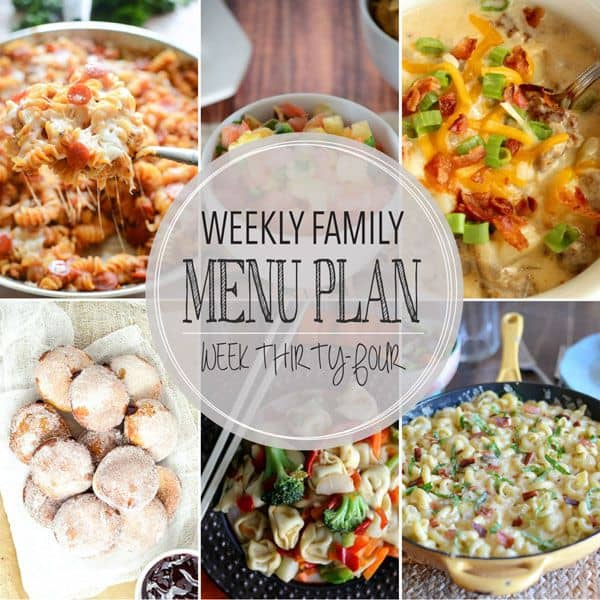 Weekly Family Meal Plan - Week 34 | Melanie Makes