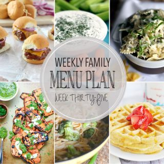 Weekly Family Meal Plan - Week 35 | Melanie Makes