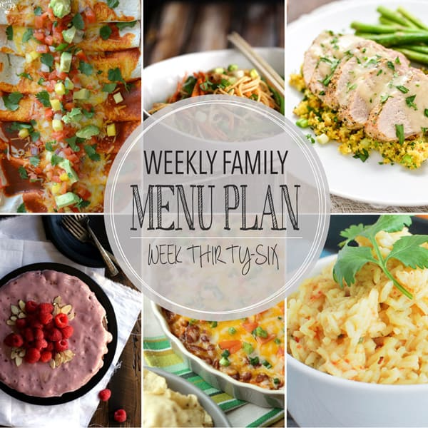 Weekly Family Menu Plan - Week 36 | Melanie Makes