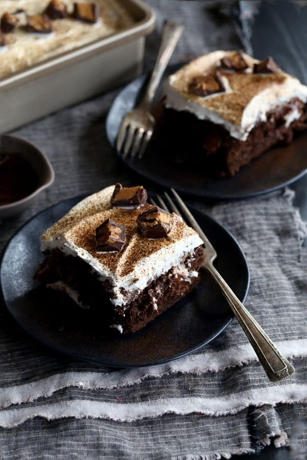 Boxed Chocolate Cake With Pudding And Butter