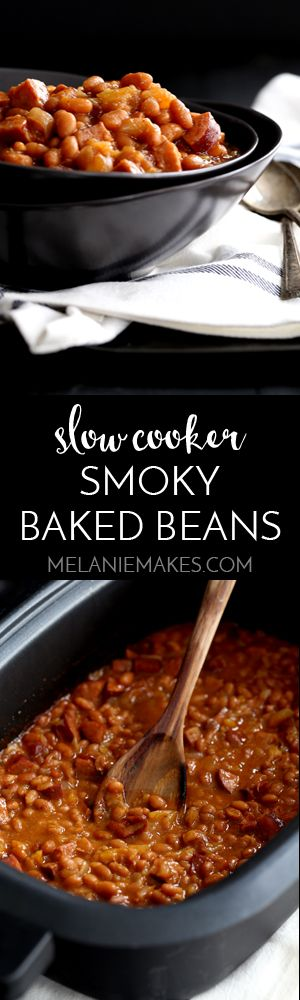 These eight ingredient Slow Cooker Smoky Baked Beans take just 10 ...