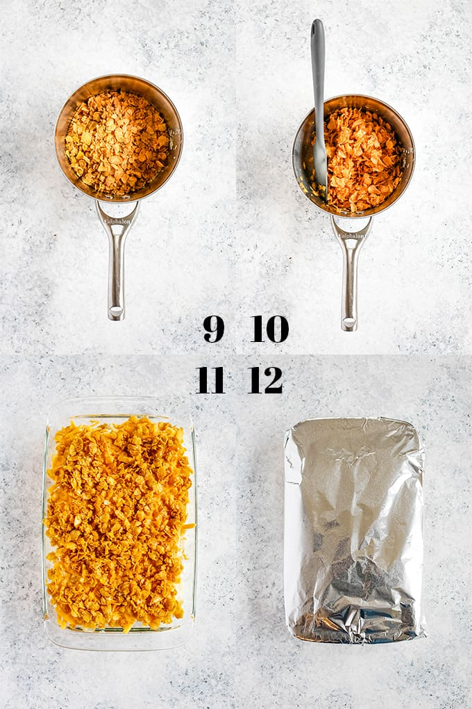 How to prepare Easy Cheesy Hash Brown Potatoes, steps 9-12.