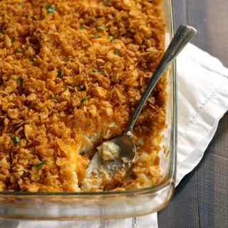 Easy Cheesy Hashbrown Potatoes | Melanie Makes