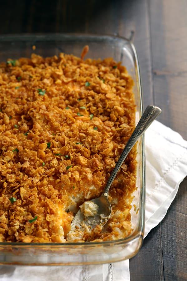 Easy Cheesy Hash Brown Casserole | Melanie Makes