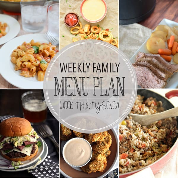 Weekly Family Menu Plan - Week 37 | Melanie Makes