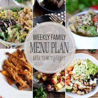 Weekly Menu Plan - Week 38 | Melanie Makes