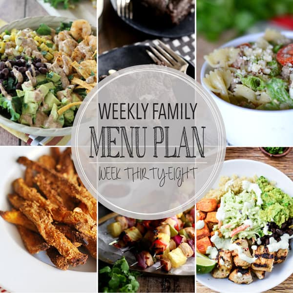 Weekly Menu Plan - Week 38 | Melanie Makes