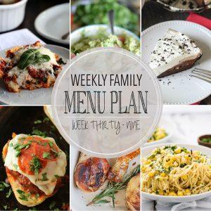Weekly Family Menu Plan – Week 39